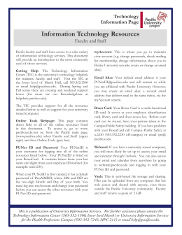 Information Technology Resources Technology Information Page Faculty and Staff