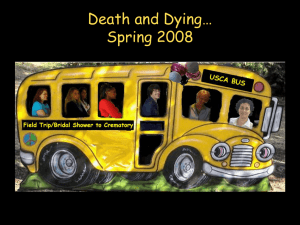 Death and Dying… Spring 2008