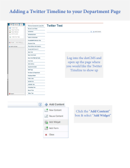 Adding a Twitter Timeline to your Department Page