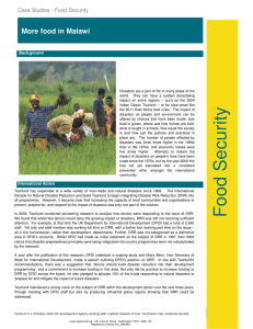 More food in Malawi Case Studies - Food Security