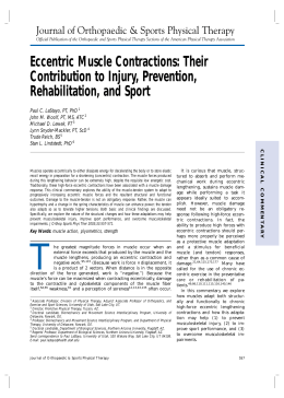 Eccentric Muscle Contractions: Their Contribution to Injury, Prevention, Rehabilitation, and Sport