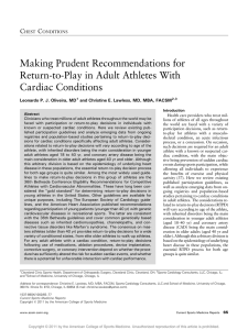 Making Prudent Recommendations for Return-to-Play in Adult Athletes With Cardiac Conditions C