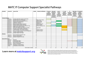 MATC IT Computer Support Specialist Pathways