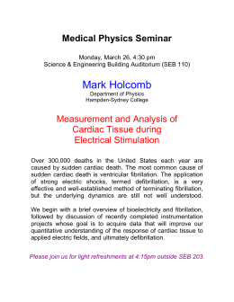 Medical Physics Seminar Measurement and Analysis of Cardiac Tissue during