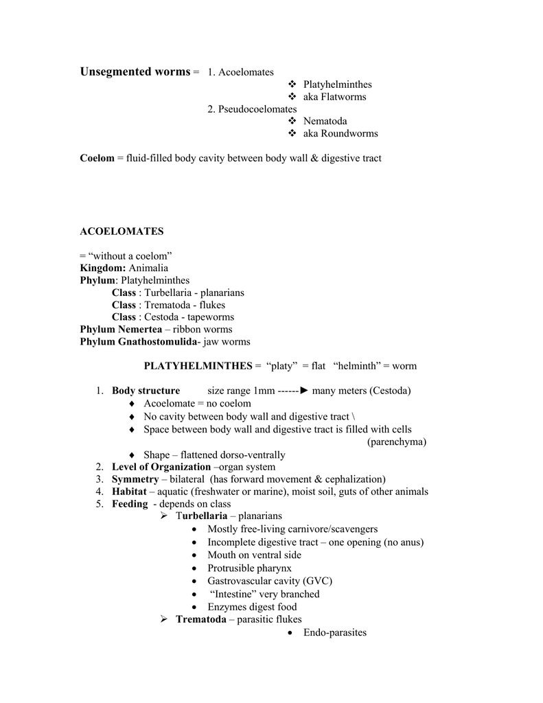 Trematode asexual reproduction worksheet