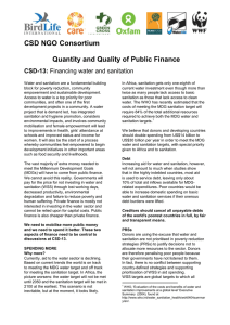 CSD NGO Consortium Quantity and Quality of Public Finance CSD-13: