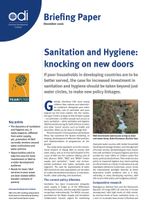 Briefing Paper Sanitation and Hygiene: knocking on new doors