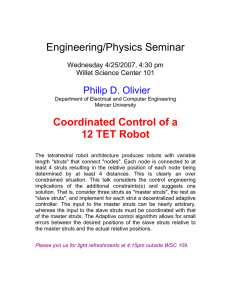 Engineering/Physics Seminar  Coordinated Control of a 12 TET Robot