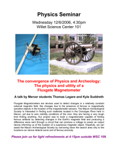 Physics Seminar  Wednesday 12/6/2006, 4:30pm Willet Science Center 101