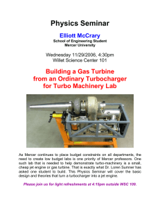 Physics Seminar Building a Gas Turbine from an Ordinary Turbocharger
