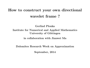 How to construct your own directional wavelet frame ?