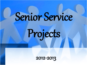 Senior Service Projects 2012-2013