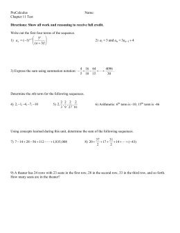 PreCalculus  Name: Chapter 11 Test