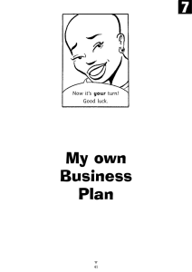 My own Business Plan 7