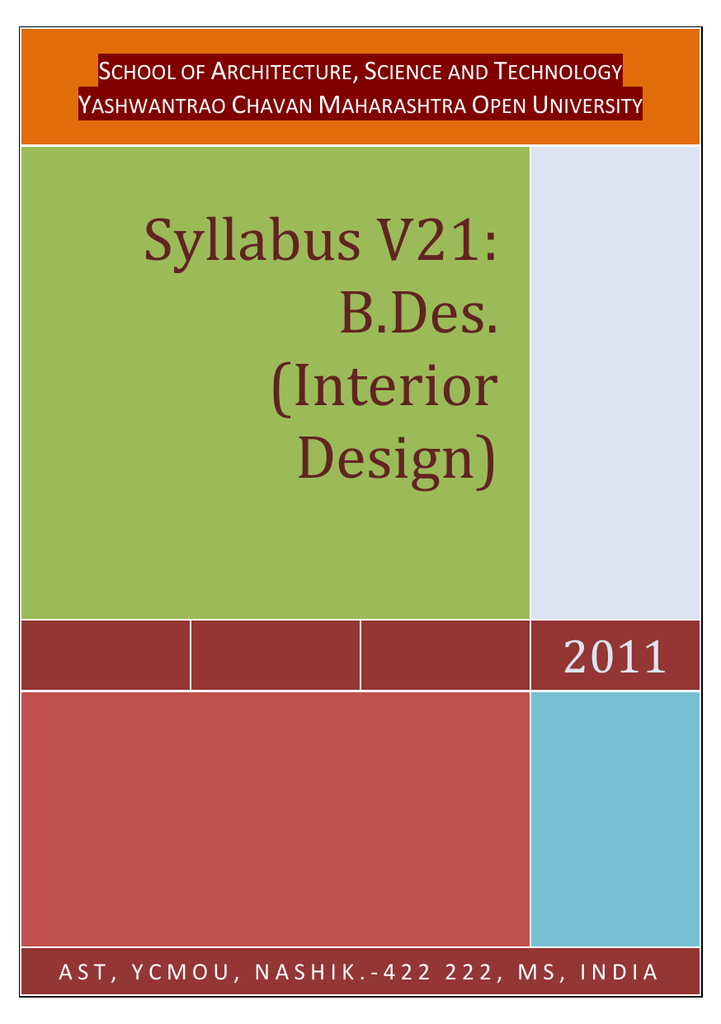 interior design course syllabus india