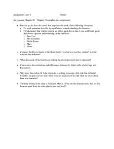 Assignment: Jane 4  Name: