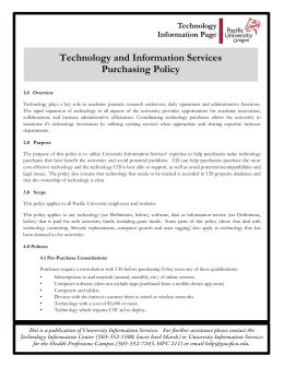 Technology and Information Services Purchasing Policy