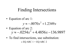 Finding Intersections 9897 . 136