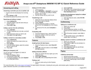 Avaya 1140E IP Deskphone User Guide Avaya Communication