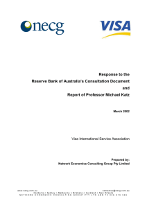 Response to the Reserve Bank of Australia's Consultation Document and