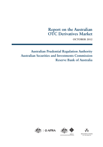Report on the Australian OTC Derivatives Market