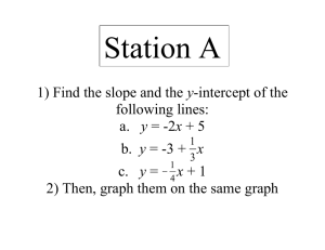 Station A y following lines: 2) Then, graph them on the same graph