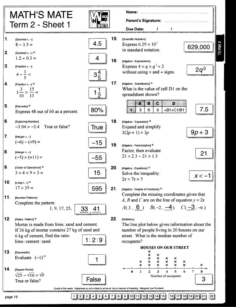 Mathis Mate Term Sheet 1