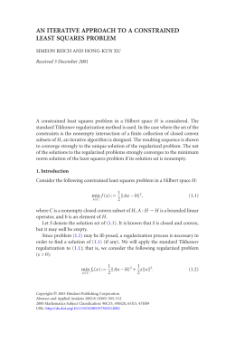 AN ITERATIVE APPROACH TO A CONSTRAINED LEAST SQUARES PROBLEM