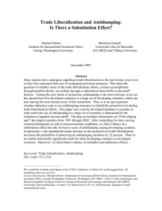 Trade Liberalization and Antidumping: Is There a Substitution Effect?