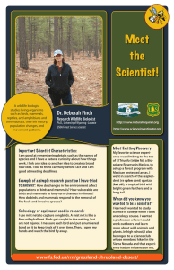 Dr. Deborah Finch Research Wildlife Biologist