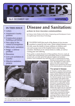 Disease and Sanitation: IN THIS ISSUE action in low-income communities