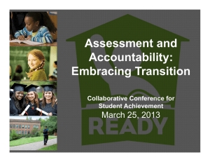 Assessment and Accountability: Embracing Transition March 25, 2013