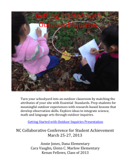 Getting Started with Outdoor Inquiries