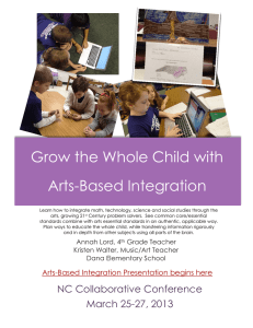 Grow the Whole Child with Arts-Based Integration