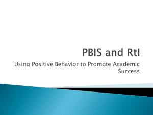 Using Positive Behavior to Promote Academic Success