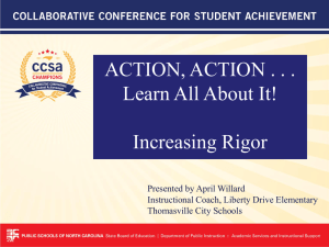 ACTION, ACTION . . . Learn All About It! Increasing Rigor