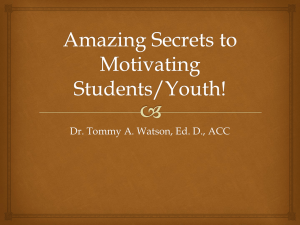 Dr. Tommy A. Watson, Ed. D., ACC