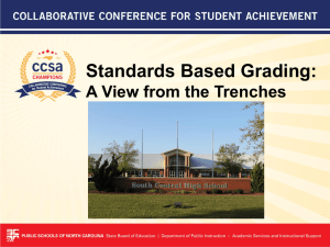 Standards Based Grading: A View from the Trenches