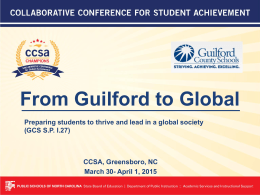From Guilford to Global