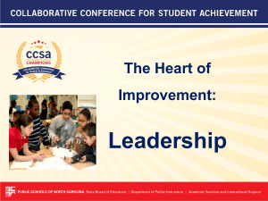 Leadership The Heart of Improvement: