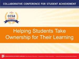 Helping Students Take Ownership for Their Learning