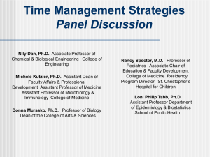 Time Management Strategies Panel Discussion