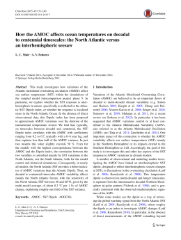 How the AMOC affects ocean temperatures on decadal
