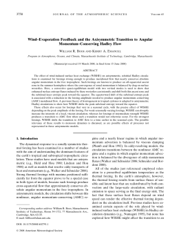 Wind–Evaporation Feedback and the Axisymmetric Transition to Angular Momentum–Conserving Hadley Flow 3758 W