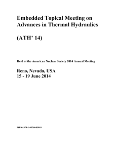 Embedded Topical Meeting on  Advances in Thermal Hydraulics (ATH' 14)