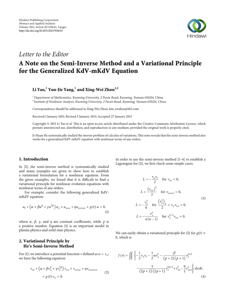 Letter to the Editor for the Generalized KdV-mKdV Equation ...