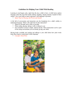 Guidelines for Helping Your Child With Reading