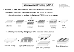Microcontact Printing (µCP) 1 Transfer master casting