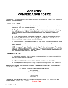 WORKERS' COMPENSATION NOTICE