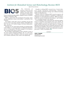 Institute for Biomedical Science and Biotechnology Becomes BIO5